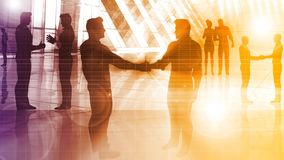 Ludzie Biznesu uścisku dłoni powitania ilustracja wektor