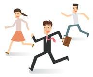 Ludzie biznesu w Działającej akci Szczęśliwy Fotografia Royalty Free
