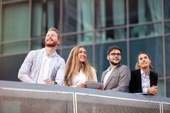 Ludzie biznesu w dzielnicie biznesu Obraz Stock