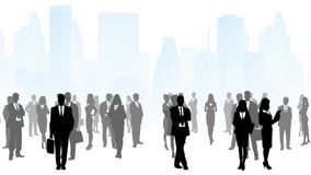 Ludzie Biznesu W Mieście ilustracji