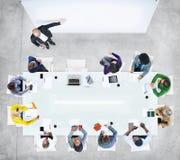 Ludzie Biznesu w spotkaniu z Pustą prezentacją zdjęcia royalty free