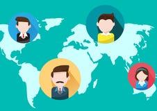 Ludzie biznesu światowej mapy ilustracji