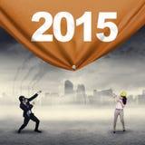 Ludzie biznesu wlec liczbę 2015 Fotografia Stock