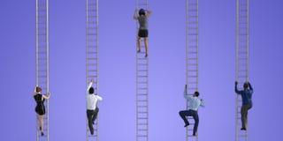 Ludzie Biznesu Wspina się drabiny ilustracja wektor