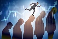 Ludzie biznesu wspina się kariery drabinę w biznesowym pojęciu Fotografia Stock