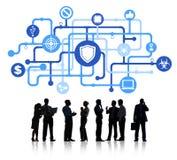 Ludzie Biznesu z Antivirus symbolem ilustracji