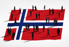 Ludzie Biznesu z flaga Norwegia Obraz Royalty Free