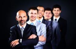 Ludzie biznesu z liderem zdjęcie royalty free
