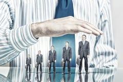 Ludzie biznesu zakrywający z palmą Obraz Stock