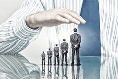 Ludzie biznesu zakrywający z palmą Obrazy Stock