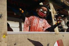 Ludzie brali udział w Basel karnawale w Basel, Szwajcaria Obrazy Stock
