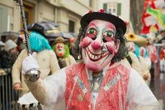 Ludzie brali udział w Basel karnawale w Basel, Szwajcaria Zdjęcie Stock