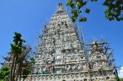 Ludzie buduje przy Wata joung kuma świątynią w Lampang Tajlandia Zdjęcie Stock