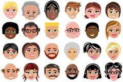 Ludzie charakteru charakteru Avatar Odizolowywającego ilustracji