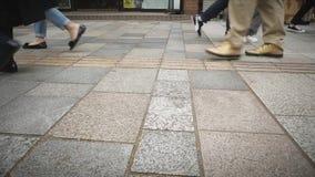 Ludzie Chodzą w Totyo Japonia zbiory wideo