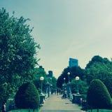 Ludzie chodzi na Boston błoniu Obraz Royalty Free