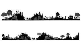 Ludzie chodzi na wzgórzach, góry Turyści na naturze Obraz Royalty Free