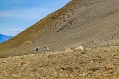Ludzie Chodzi przy Trekking drogą El Chalten, Argentyna - obrazy royalty free