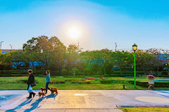 Ludzie chodzi w Taipei expo parku Obraz Stock