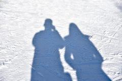 Ludzie cieni z odbiciem Fotografia Stock