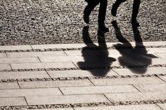 ludzie cienia chodzić Zdjęcie Stock