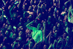 Ludzie cieszą się koncert przy stadium Obraz Royalty Free
