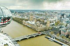 Ludzie cieszą się widok z lotu ptaka Londyn Zdjęcie Stock
