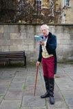 Ludzie costumed w ulicach skąpanie dla Jane Austen festiwalu Zdjęcie Royalty Free