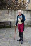 Ludzie costumed w ulicach skąpanie dla Jane Austen festiwalu Obraz Royalty Free