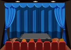 Ludzie czeka przedstawienie na scenie ilustracji