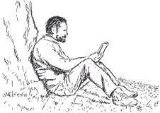 ludzie czytający czego royalty ilustracja