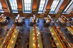 Ludzie czytelniczych książek w ciszy Krajowa biblioteka Szwecja Obrazy Royalty Free