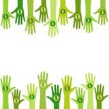 Ludzie daje pieniądze - darowizna ilustracji