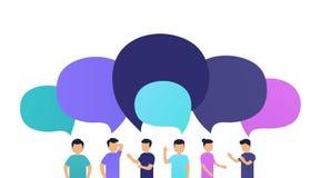 Ludzie dyskutują wiadomość z each inny Zdjęcie Stock