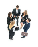 ludzie grup przedsiębiorstw Biznesmen Odizolowywający na białym backgro Obraz Royalty Free