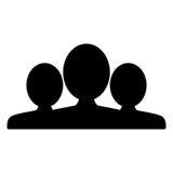 Ludzie, grupa, drużynowa ikona Sylwetka wektoru znak Zdjęcia Stock