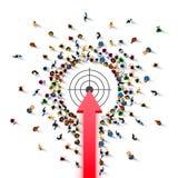 Ludzie grupa znaka strzała purpose ilustracja wektor