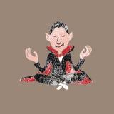 Ludzie Halloweenowego wampir medytaci równowagi znaczka Fotografia Stock