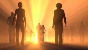 Ludzie iść światło Zdjęcie Stock