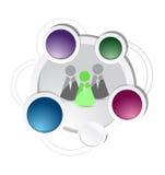 Ludzie i biznesowa diagram ilustracja Zdjęcie Stock