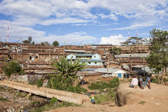 Ludzie i Kibera Fotografia Stock