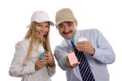 Ludzie i kredytowe karty obrazy stock