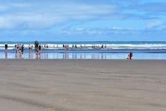 Ludzie i ocean zdjęcie stock