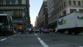 Ludzie i ruch drogowy w Miasto Nowy Jork zbiory