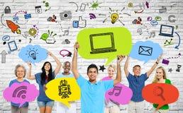 Ludzie i socjalny komunikacj pojęcia Obraz Stock