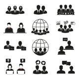 Ludzie ikon ustawia? Biurowi m??czy?ni i kobiety royalty ilustracja