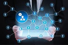 Ludzie ikony sieci SMM marketingowy medialny socjalny Fotografia Royalty Free