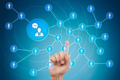 Ludzie ikony sieci SMM marketingowy medialny socjalny Zdjęcia Stock