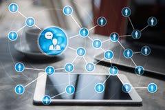 Ludzie ikony sieci SMM marketingowy medialny socjalny Obrazy Stock