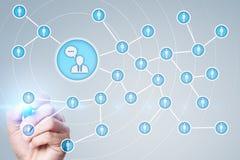 Ludzie ikony sieci SMM marketingowy medialny socjalny Fotografia Stock